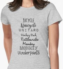 Gilmore Girls - Bicycle Unicycle Women's Fitted T-Shirt