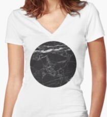 Marble Women's Fitted V-Neck T-Shirt