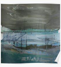 grey landscape Poster