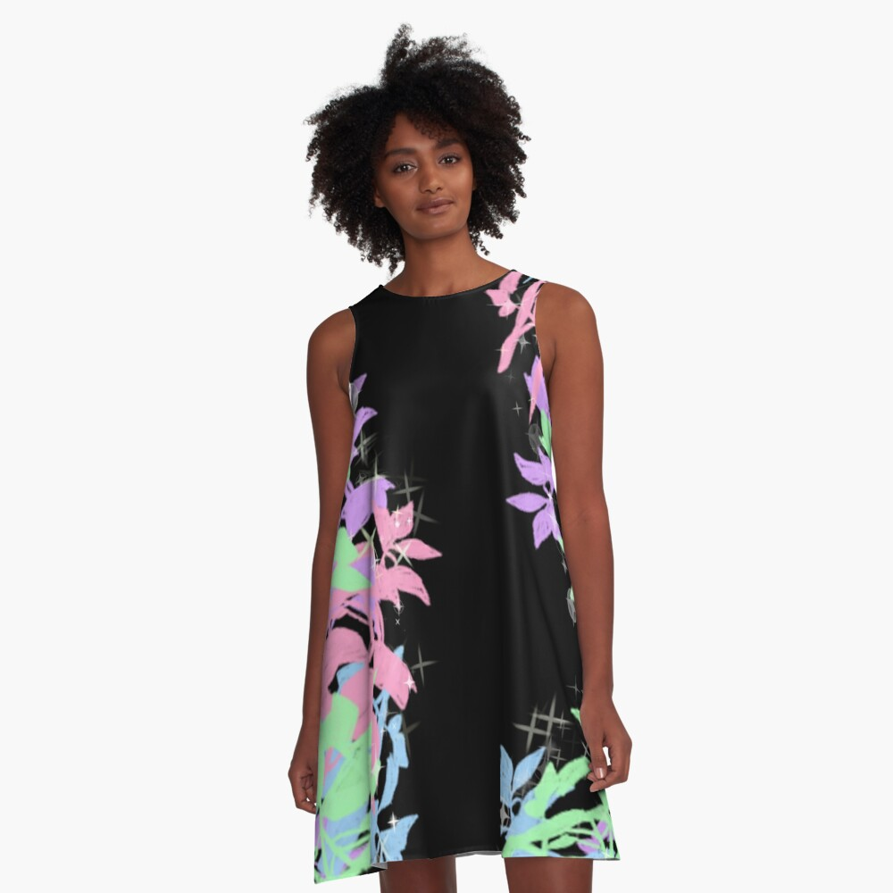 Pastel Herbs A-Line Dress Front