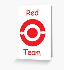 pokemon team red Greeting Card