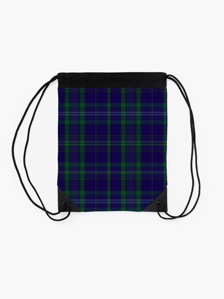 Alternate view of 02362 Davies of Wales Tartan Drawstring Bag