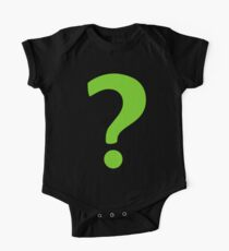 Enigma - green question mark One Piece - Short Sleeve