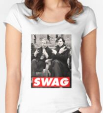 SWAGLOCK Women's Fitted Scoop T-Shirt