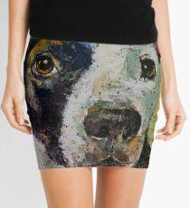 Pit Bull Portrait Mini Skirt