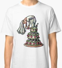 Bride Decorates Her Own Wedding Cake Classic T-Shirt