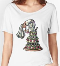 Bride Decorates Her Own Wedding Cake Women's Relaxed Fit T-Shirt