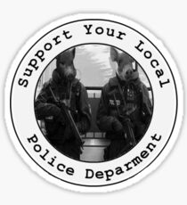 """Support Your Local Police Department"" Sticker"