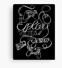 I Play Vidja Games (White) Canvas Print