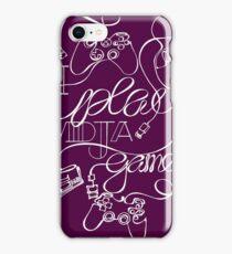 I Play Vidja Games (White) iPhone Case/Skin