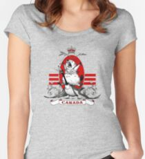 Canada Fuck yeah Women's Fitted Scoop T-Shirt