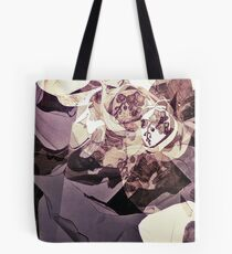 Purple Orchid Chaos - Floral Geometry Study  Tote Bag