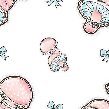 Cute Girly Mushrooms Pattern by gigglish