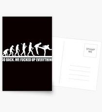 Funny Human Evolution Postcards