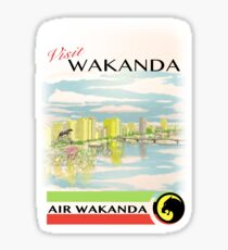 Visit Wakanda- Vintage Travel Ad Sticker