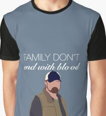 Bobby Singer - Family Don't End With Blood Graphic T-Shirt