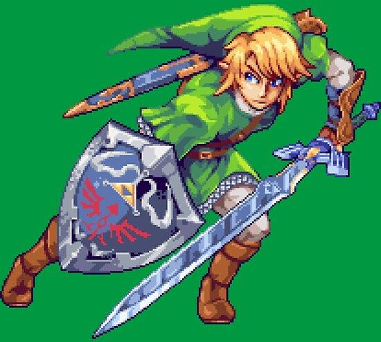Legend Of Zelda Link Pixel Art Poster By Eag2000