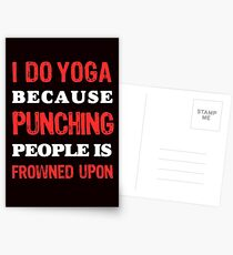 Yoga, fitness and Health Postcards