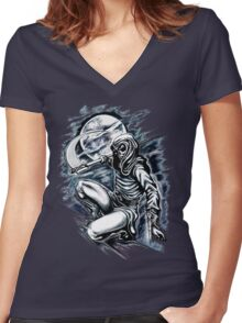 Death Assassin Women's Fitted V-Neck T-Shirt