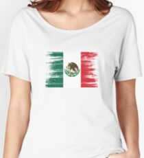 Mexican flag distressed. Women's Relaxed Fit T-Shirt