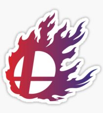 Super Smash Bros. Flame Sticker