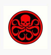 Hydra Skull Design Art Print