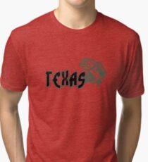 FISH TEXAS VINTAGE LOGO Tri-blend T-Shirt