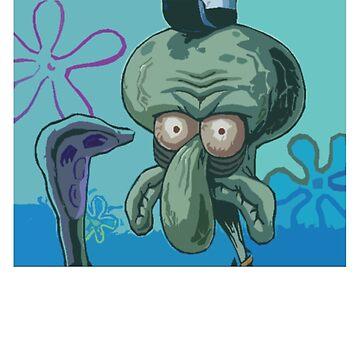 Angry Squid ward  by MrDesigner266
