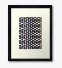 Selfie Pattern Framed Print