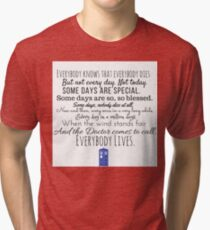 Doctor Who River Song Quote Tri-blend T-Shirt
