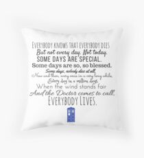 Doctor Who River Song Quote Throw Pillow