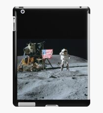 Commander John Young Jumps & Salutes the Flag iPad Case/Skin