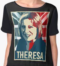 Theresa May Poster Chiffon Top