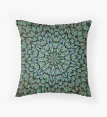 Attractive Peacock Feathers Kaleidoscope Throw Pillow