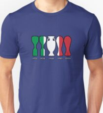 Italy World Cup and European Championship Trophy Cabinet T-Shirt