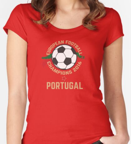 Portugal Euro 2016 Champions T-Shirts etc. ID-8 Women's Fitted Scoop T-Shirt