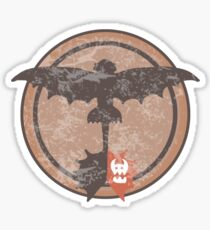 Distressed Night Fury Silhouette  Sticker
