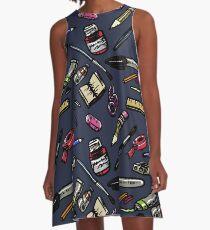 Künstlerbedarf Bonanza !!! A-Linien Kleid