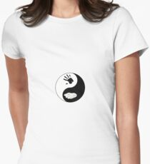 Dire Wolf Therian Ying/Yang Women's Fitted T-Shirt