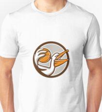 Pelican Dunking Basketball Circle Retro Unisex T-Shirt