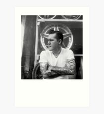 Brian Fallon Black & White Art Print