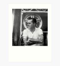 Brian Fallon Black & White Art Print