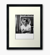Brian Fallon Black & White Framed Print