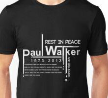 See You Again Paul Walker Unisex T-Shirt