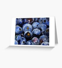 Blueberries Kitchen Decor Fruit Acrylic Contemporary Painting Greeting Card