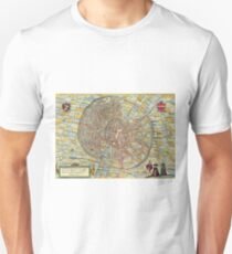 Leuven(2) Vintage map.Geography Belgium ,city view,building,political,Lithography,historical fashion,geo design,Cartography,Country,Science,history,urban T-Shirt