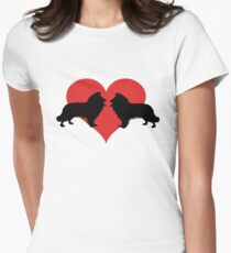 Border Collies Womens Fitted T-Shirt