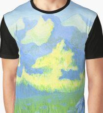 Blue Daisies Graphic T-Shirt