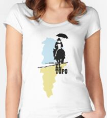Der Maulwurf - metaphysischer Westen von Jodorowsky (farbig) Tailliertes Rundhals-Shirt