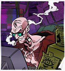 Póster Pirata ciberpunk